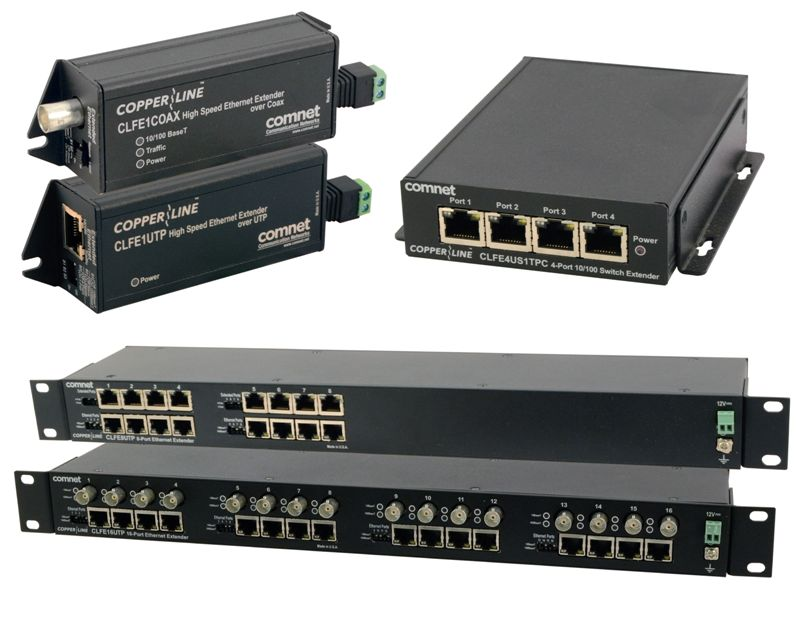 ComNet CopperLine group for Ethernet over copper media
