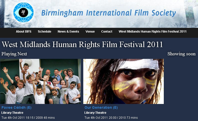 West Midlands Human Rights Film Festival 2011 featuring Article 12 and Defeat of a Champion