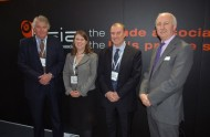(left to right) Patrick Dealtry, Chairman of the section, Rachel Griffin Chair of The Suzy Lamplugh Trust, Craig Swallow, Vice Chair of the section and James Kelly, BSIA Chief Executive