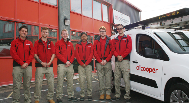 Aspiring security engineers begin apprenticeships with Allcooper
