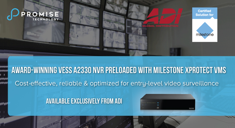 Promise Vess NVRs certified with Milestone XProtect